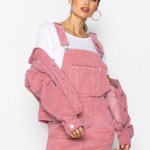 Tommy Jeans Dungaree Dress Loose Fit Mekko Blush