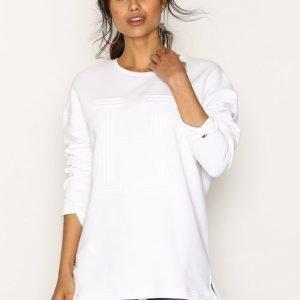Tommy Jeans Thdw Cn Graphic Knit L / S Svetari Bright White