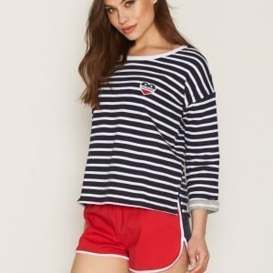Tommy Jeans Thdw Scallop Shorts Shortsit Lipstick Red / Multi