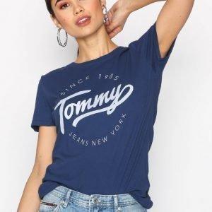 Tommy Jeans Tjw Cn T-Shirt S / S 29 T-Paita Blue