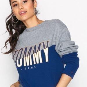 Tommy Jeans Tjw Cut Sew Graphic Hknit Svetari Blue