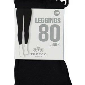 Topeco Leggingsit 80 DEN Musta
