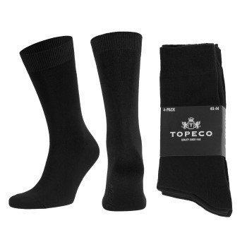 Topeco Mens Socks Plain  4 pakkaus