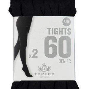 Topeco Sukkahousut 60 DEN 2-Pakkaus Musta
