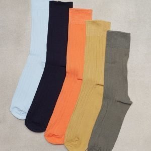 Topman Assorted Colour Ribbed Textured Socks 5 Pack Sukat Multicolor