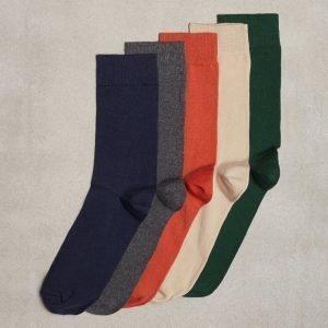 Topman Assorted Colour Socks 5 Pack Sukat Multi