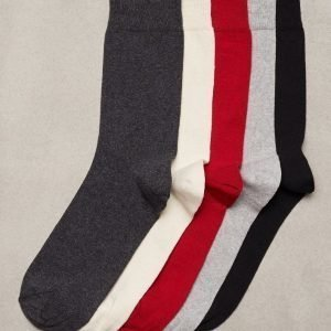 Topman Assorted Colour Socks 5 Pack Sukat Multicolor