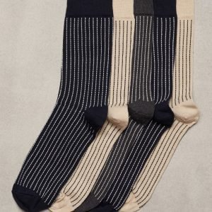 Topman Assorted Colour Stripe Socks 5 Pack Sukat Multicolor