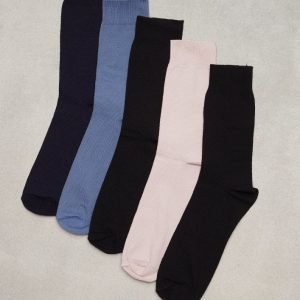 Topman Assorted Colour Textured Socks 5 Pack Sukat Multicolor
