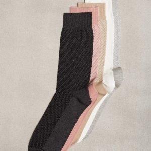 Topman Assorted Colour Waffle Textured Socks 5 Pk Sukat Multi