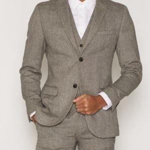 Topman Birdseye Suit Jacket Bleiseri Stone