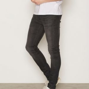Topman Black Distressed Spray On Skinny Jeans Farkut Black