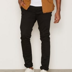 Topman Black Oil Coated Stretch Farkut Black