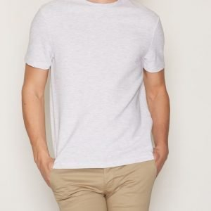 Topman Black Slim Fit Crew Neck T-Shirt T-paita Light Grey