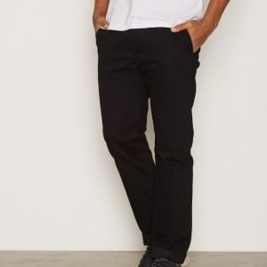 Topman Black Standard Fit Chinos Chinot Black