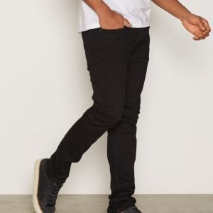 Topman Black Stretch Skinny Chinos Housut Black