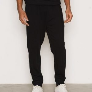 Topman Black Textured Skinny Joggers Housut Black