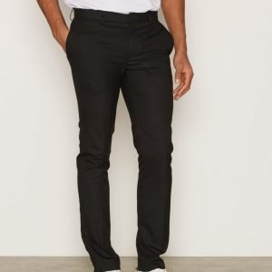 Topman Black Ultra Skinny Fit Smart Trousers Pukuhousut Black