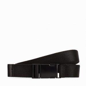 Topman Black Webbing Belt Vyö Black