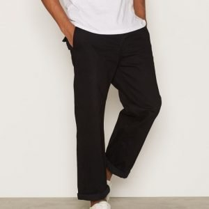 Topman Black Wideleg Crop Chinos Chinot Black