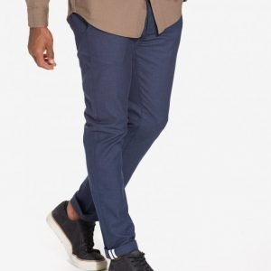 Topman Blue Stretch Slim Chinos Housut Blue