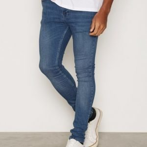 Topman Blue Super Spray On Skinny Jeans Farkut Dark Blue