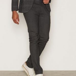 Topman Charcoal Ultra Skinny Fit Smart Trousers Pukuhousut Charcoal
