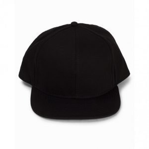 Topman Check Snapback Cap Lippis Black