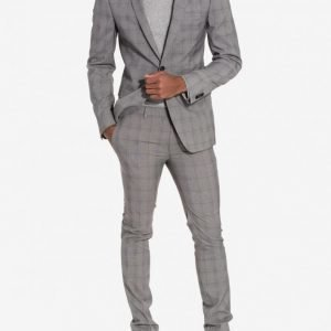 Topman Check Ultra Skinny Fit Suit Puku