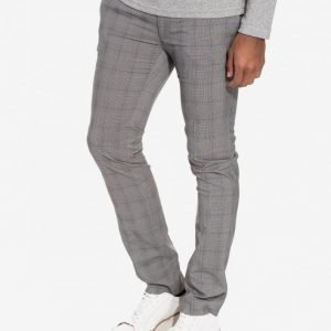 Topman Check Ultra Skinny Fit Trousers Puvunhousut Grey