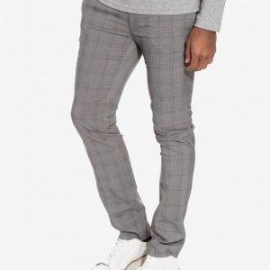 Topman Check Ultra Skinny Fit Trousers Puvunhousut Grey
