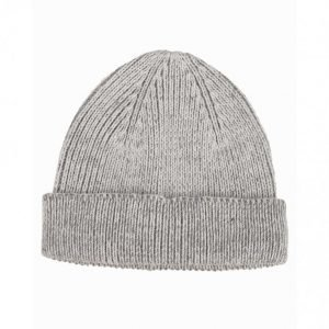 Topman Classic Fit Beanie Hat Pipo Light Grey