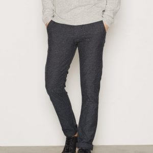 Topman Cole Neppy Slim Trouser Housut Navy Blue