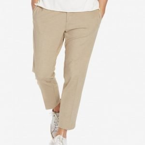 Topman Crop Jersey Trousers Chinot Stone