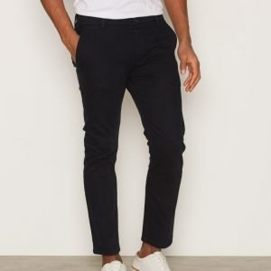 Topman Cropped Stretch Slim Chinos Farkut Navy