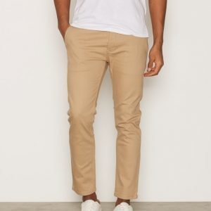 Topman Cropped Stretch Slim Chinos Farkut Stone