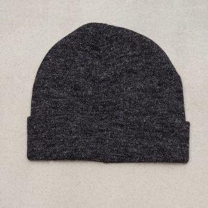 Topman Dark Grey Fuzzy Beanie Hat Pipo Black