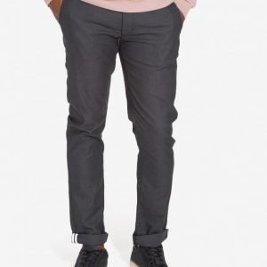Topman Dark Grey Stretch Slim Chinos Housut Grey