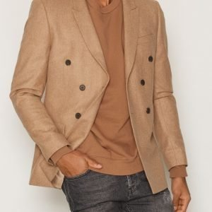 Topman Double Breasted Skinny Fit Suit Jacket Bleiseri Light Brown
