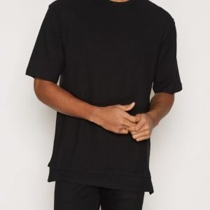 Topman Double Hem Boxy Fit T-Shirt T-paita Black