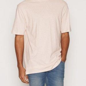 Topman Double Hem Boxy Fit T-Shirt T-paita Offwhite
