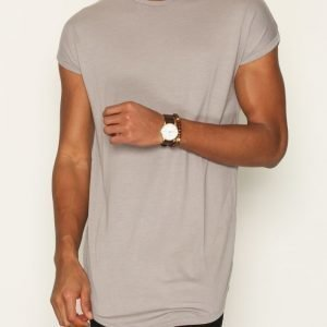 Topman Drop Shoulder Longline Tank Vest T-paita Light Grey