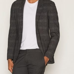 Topman Grey Check Ultra Skinny Fit Suit Jacket Bleiseri Grey