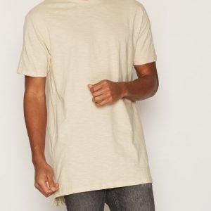 Topman Grey Longline Slub T-Shirt T-paita Stone