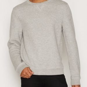 Topman Grey Quilted Sweatshirt Pusero Grey