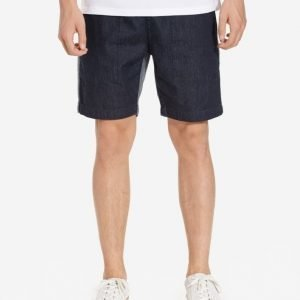 Topman Grey Two Tone Elasticated Waist Denim Shorts Shortsit Mid Blue