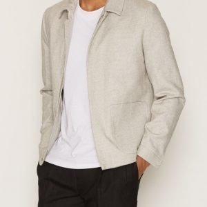 Topman Grey Wool Blend Smart Coach Jacket Takki Light Grey