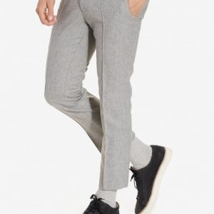Topman Grey Wool Rich Skinny Fit Cropped Suit Trousers Puvunhousut Grey