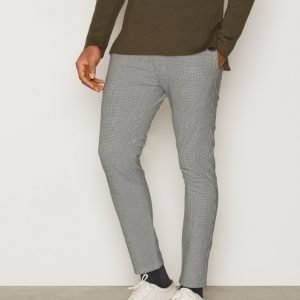 Topman Houndstooth Skinny Chinos Housut Black