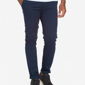 Topman Indigo Stretch Skinny Chinos Chinot Dark Blue